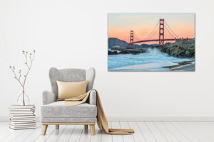 Golden Gate Bride San Francisco 03 - Gallery Wrap Canvas w/ COA (Various Sizes)