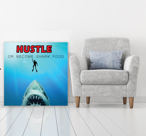 Hustle- Gallery Wrap Canvas w/ COA (Various Sizes)