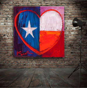 I Love Texas - Simon Bull - Gallery Wrap Canvas w/ COA (Various Sizes)