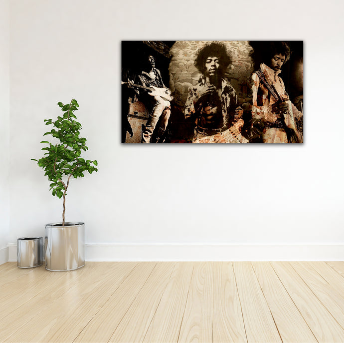 Jimmy Hendrix 01 - Gallery Wrap Canvas w/ COA (Various Sizes)