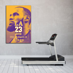 King Lebron - Gallery Wrap Canvas w/ COA (Various Sizes)