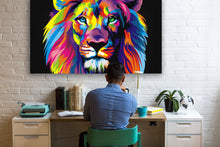 Load image into Gallery viewer, Rainbow Lion -  Gallery Wrap Canvas w/ COA (Various Sizes)