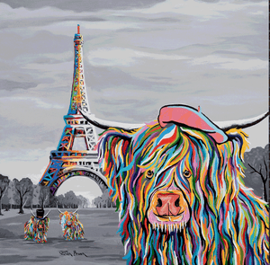 Eiffel Tower, Paris: McCoo's on Tour - Steven Brown - Gallery Wrap Canvas w/ COA
