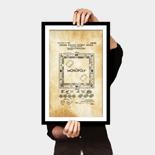 Load image into Gallery viewer, Monopoly Game Patent - Gallery Wrap Canvas w/ COA (Various Sizes)