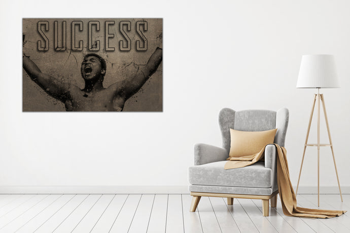 Muhammad Ali: Success - Gallery Wrap Canvas w/ COA (Various Sizes)