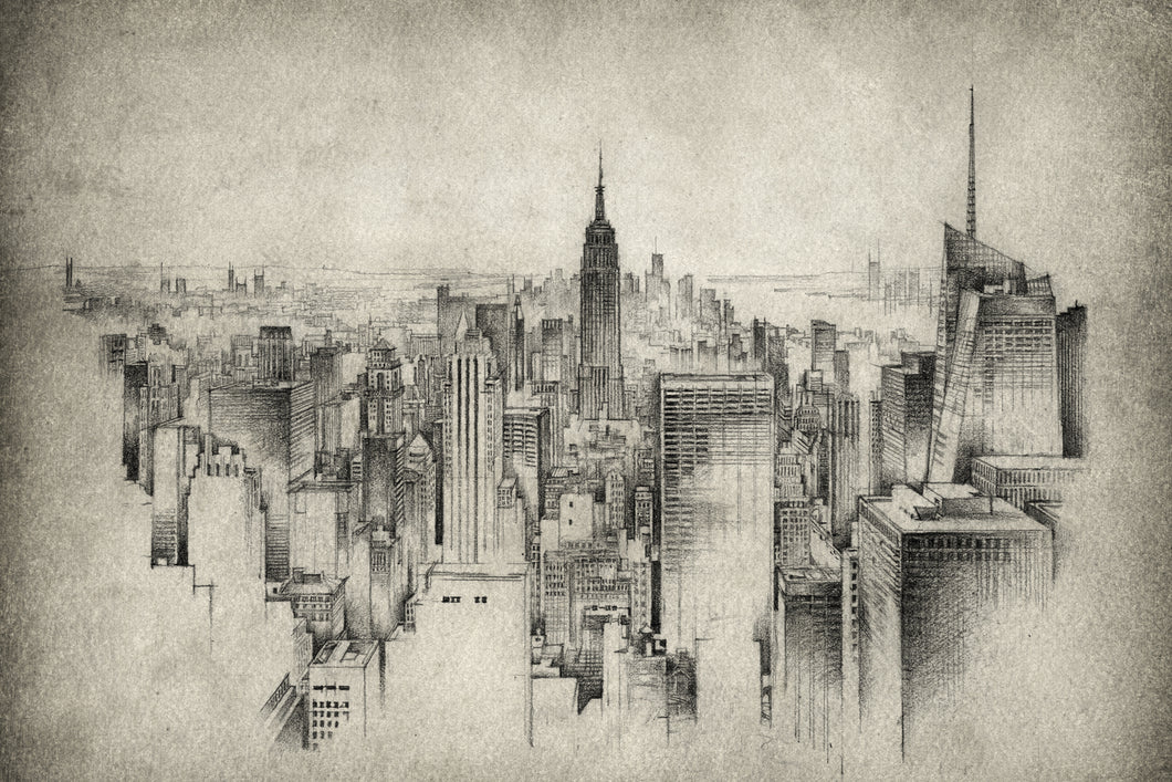 Black and White New York City  - Gallery Wrap Canvas w/ COA (Various Sizes)
