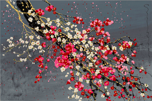 Plum & Cherry Blossoms - Simon Bull - Gallery Wrap Canvas w/ COA (Various Sizes)