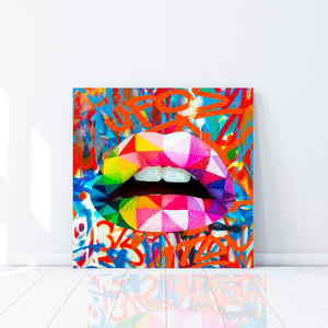 Rainbow Lips - Gallery Wrap Canvas w/ COA (Various Sizes)