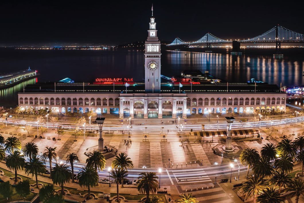 San Francisco Ferry Building - Gallery Wrap Canvas w/ COA (Various Sizes)