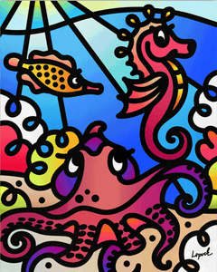 Sea Doodles II - Gallery Wrap Canvas w/ COA (Various Sizes)