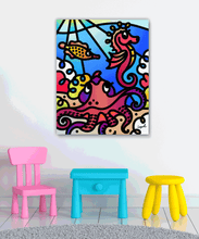 Load image into Gallery viewer, Sea Doodles II - Gallery Wrap Canvas w/ COA (Various Sizes)