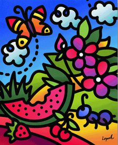 Summer Doodles I - Lisa Lopuck - Gallery Wrap Canvas w/ COA (Various Sizes)