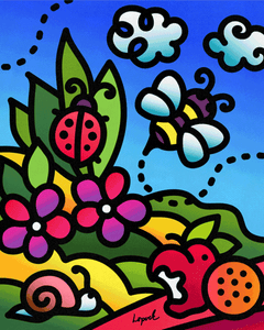 Summer Doodles II - Lisa Lopuck - Gallery Wrap Canvas w/ COA (Various Sizes)