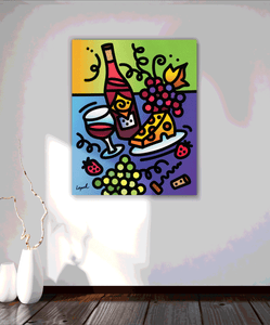 Tipsy - Lisa Lopuck - Gallery Wrap Canvas w/ COA (Various Sizes)