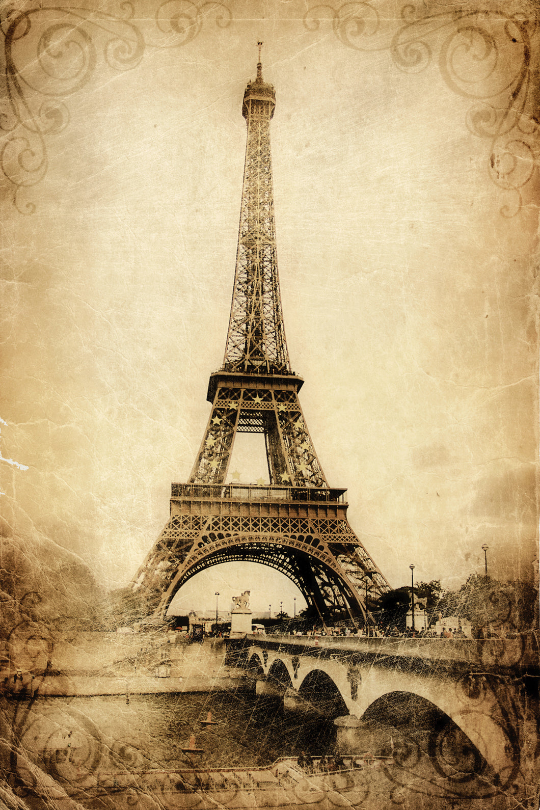 Eiffel Tower - Gallery Wrap Canvas w/ COA (Various Sizes)
