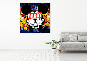 Freaky Mouse - Gallery Wrap Canvas w/ COA (Various Sizes)