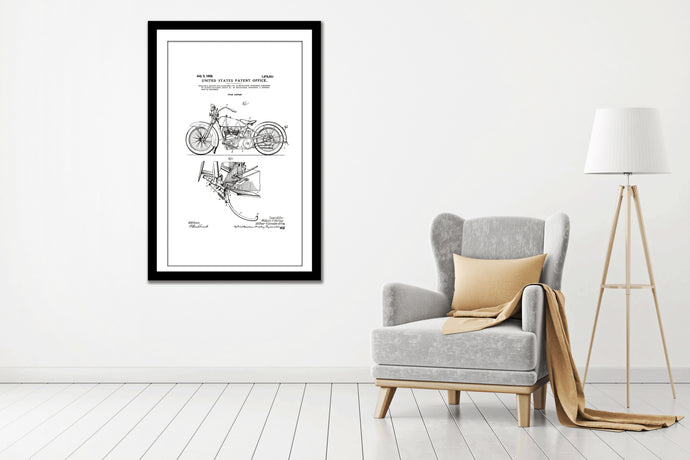 Patent Print, Wall Decor, art prints, Patent canvas Art, old  Harley Davidson canvas prints, Man Cave  Art