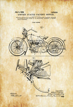 Load image into Gallery viewer, Patent Print, Wall Decor, art prints, Patent canvas Art, old  Harley Davidson canvas prints, Man Cave  Art