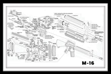 Load image into Gallery viewer, Assault Rifle M-16 - Gallery Wrap Canvas w/ COA (Various Sizes)