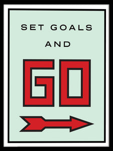 Set Goals & Go w/ COA (Gallery Wrap Canvas - Various Sizes)