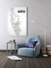 Load image into Gallery viewer, Manhattan subway map - Gallery Wrap Canvas w/ COA (Various Sizes)