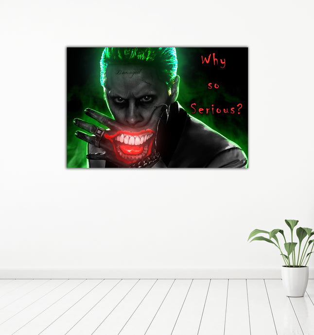 The Joker: Why So Serious? -  Gallery Wrap Canvas w/ COA (Various Sizes)