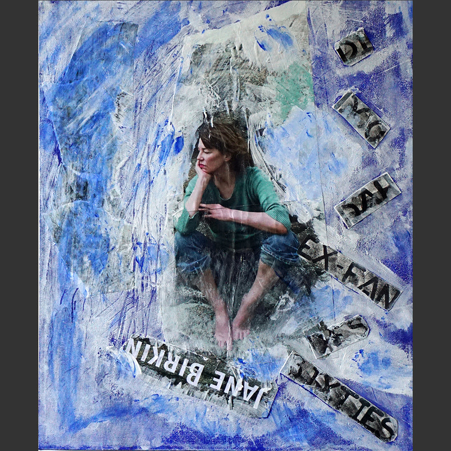 "Jane Birkin Mixed Media | Size 24x20x0.5"" - FranLamothe"