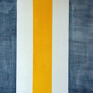 "Denim Stripes Painting | Size 20x24x0.5"" - FranLamothe"