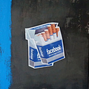 "FACEBOOK #2 Mixed Media | Size 20x24X0.5"" - FranLamothe"