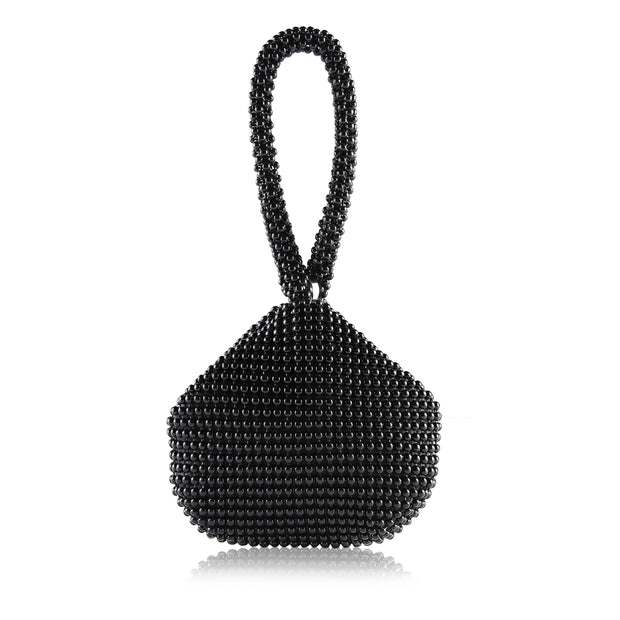 Metme Wrist Bag Shaped Handbag Evening Bag Clutch Triangle Rhinestone Prom Wedding 1920 Costumes Accessories