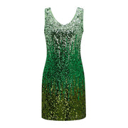 Metme Women's V Neck Sleeveless Glitter Bodycon Dress Sparkle Shimmer Sequins Party Midi Dresses