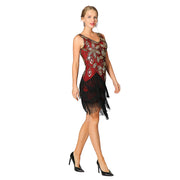 Metme 1920s Prom Formal Evening Dress 20s Sequin Bridal Long Flapper Gown Gastby Theme Party