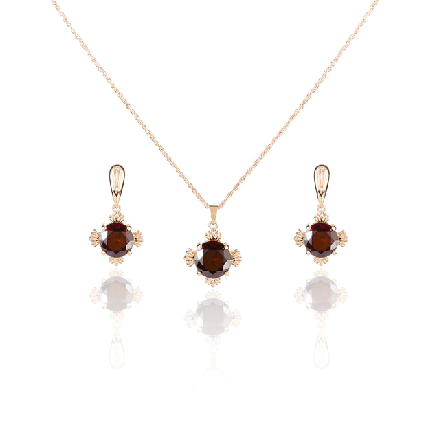 Metme Women's Vintage Style Crystal Simulated Pearl Chandelier Dangle Earrings & Necklace Set