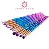 Professional Diamond Rainbow Make Up Brush Set