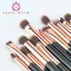 12 Piece Gold Makeup Brush Set