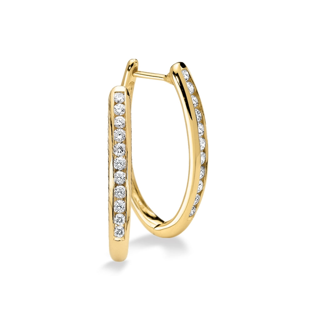 14kt 1/2ctw Diamond Hoops