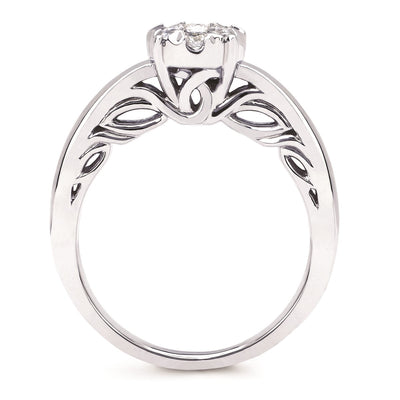 14kt .49ctw Multi-Center Round Solitaire Engagement Ring