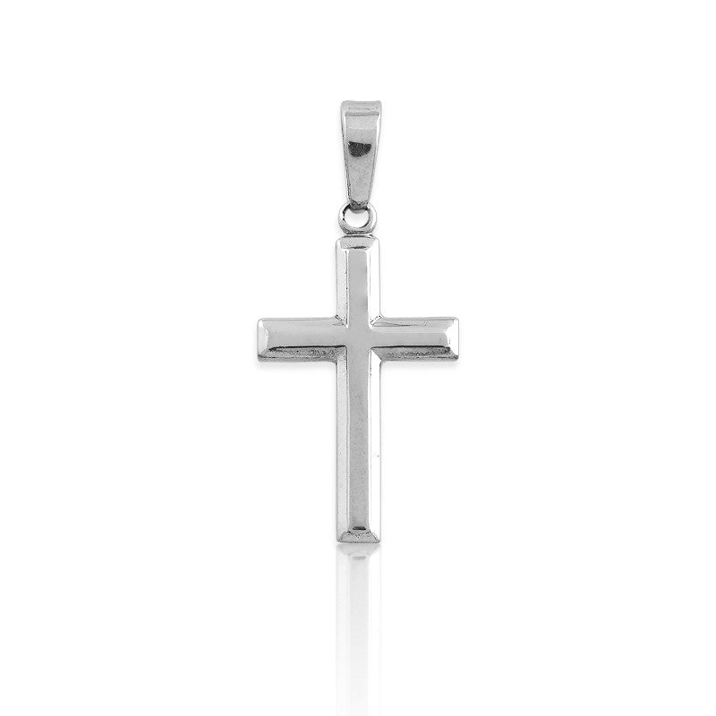 Sterling Silver 18 Inch Small Cross Pendant