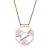 SS Mother of Pearl & CZ Elle Fashion Pendant