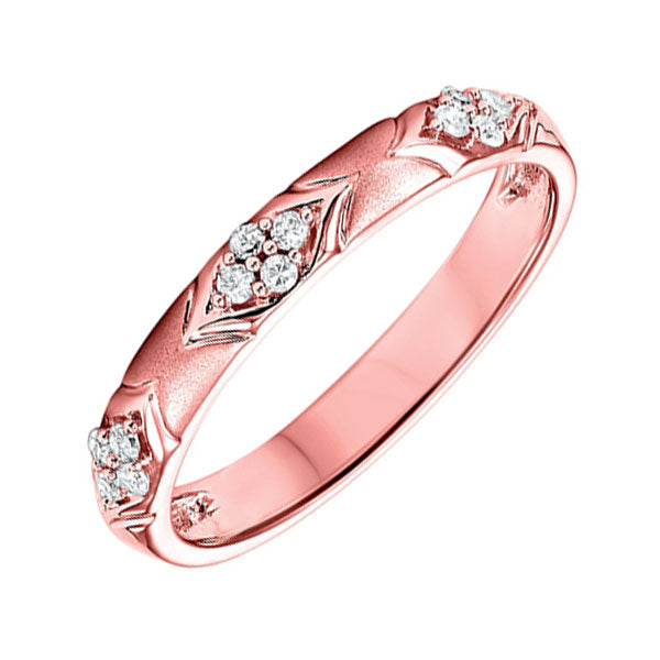14K Rose Gold Diamond Ring - 1/8 ct.