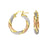 SS/Rose & Yellow Gold Plated Twisted Hoop Earrings