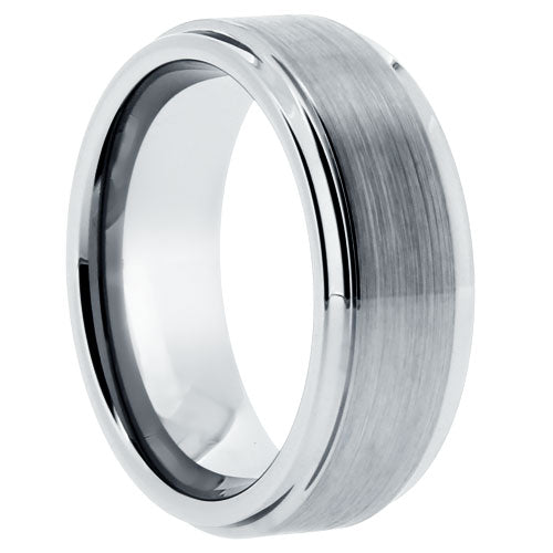 Tungsten Brushed Finish 8mm Band