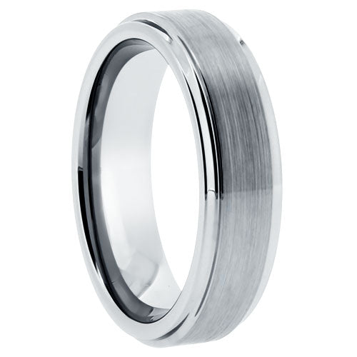 Tungsten Brushed Finish 6mm Band