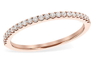 14k rose gold .19 carat Diamond Band