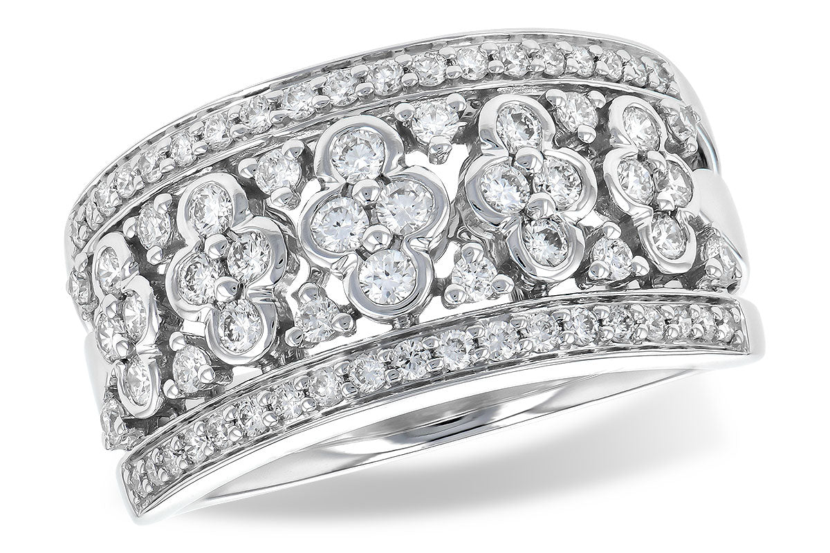 14k White Gold Aquamarine Center Halo Ring