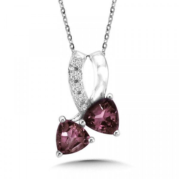 Sterling Silver Alexandrite Colored Pendant