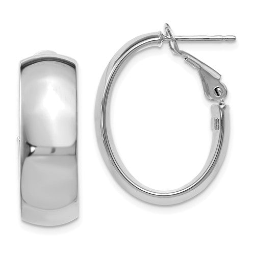 14kt Polished Hoop Earrings
