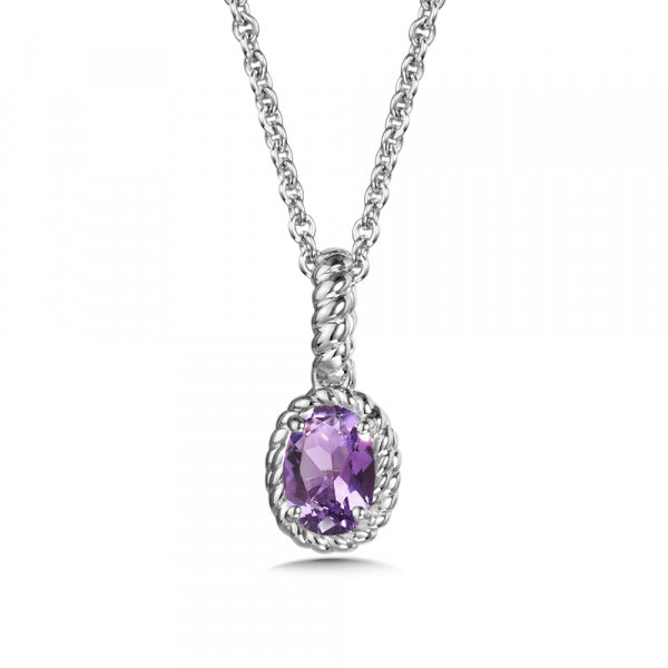 Sterling Silver Amethyst Colored Pendant