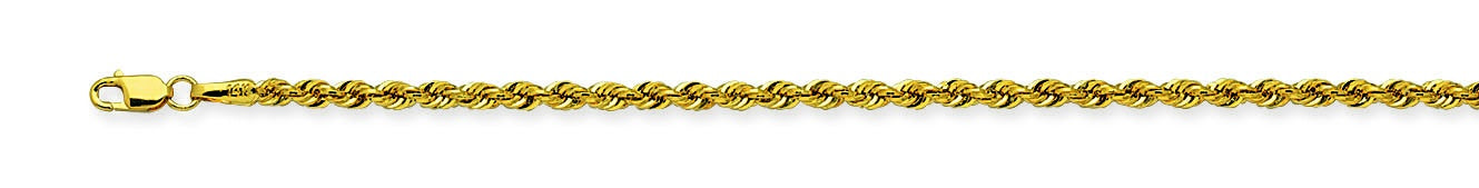 "10Ky 2 mm 22"" Hollow Rope Chain"