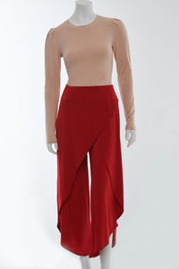 Red wrap pants